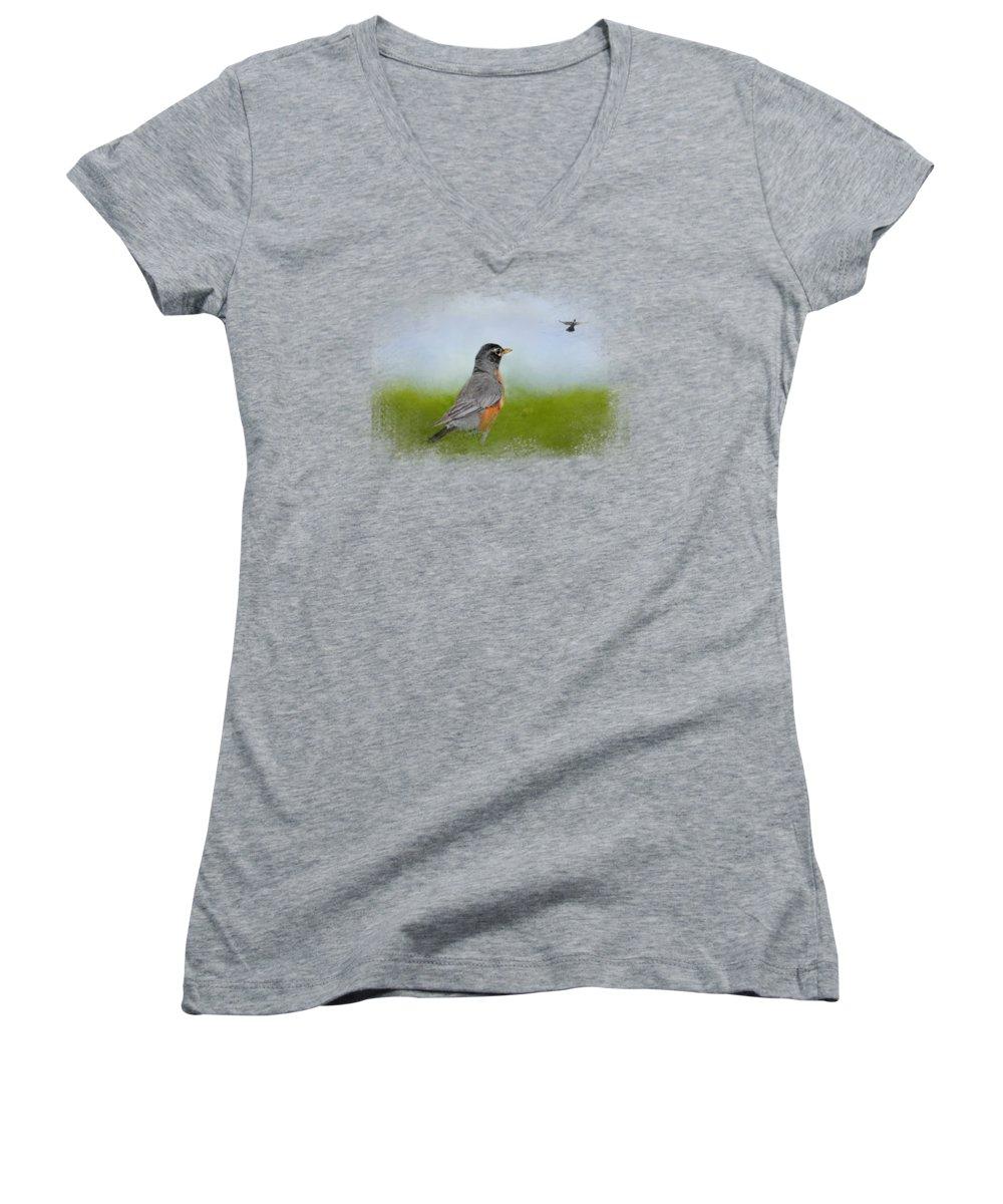 Robin Junior V-Neck T-Shirts