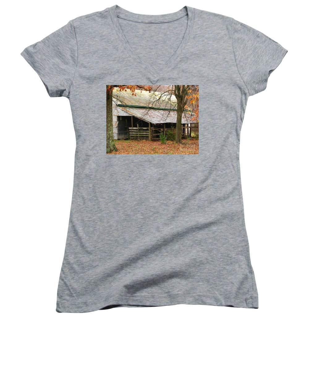 Rural Women's V-Neck T-Shirt featuring the photograph Rural by Amanda Barcon