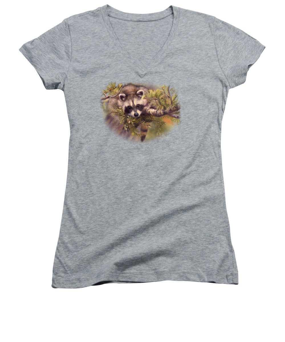 Raccoon Junior V-Neck T-Shirts