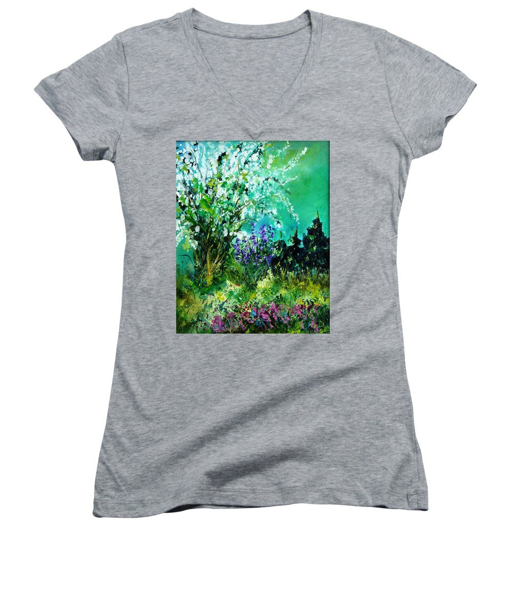 Tree Women's V-Neck (Athletic Fit) featuring the painting Seringa by Pol Ledent