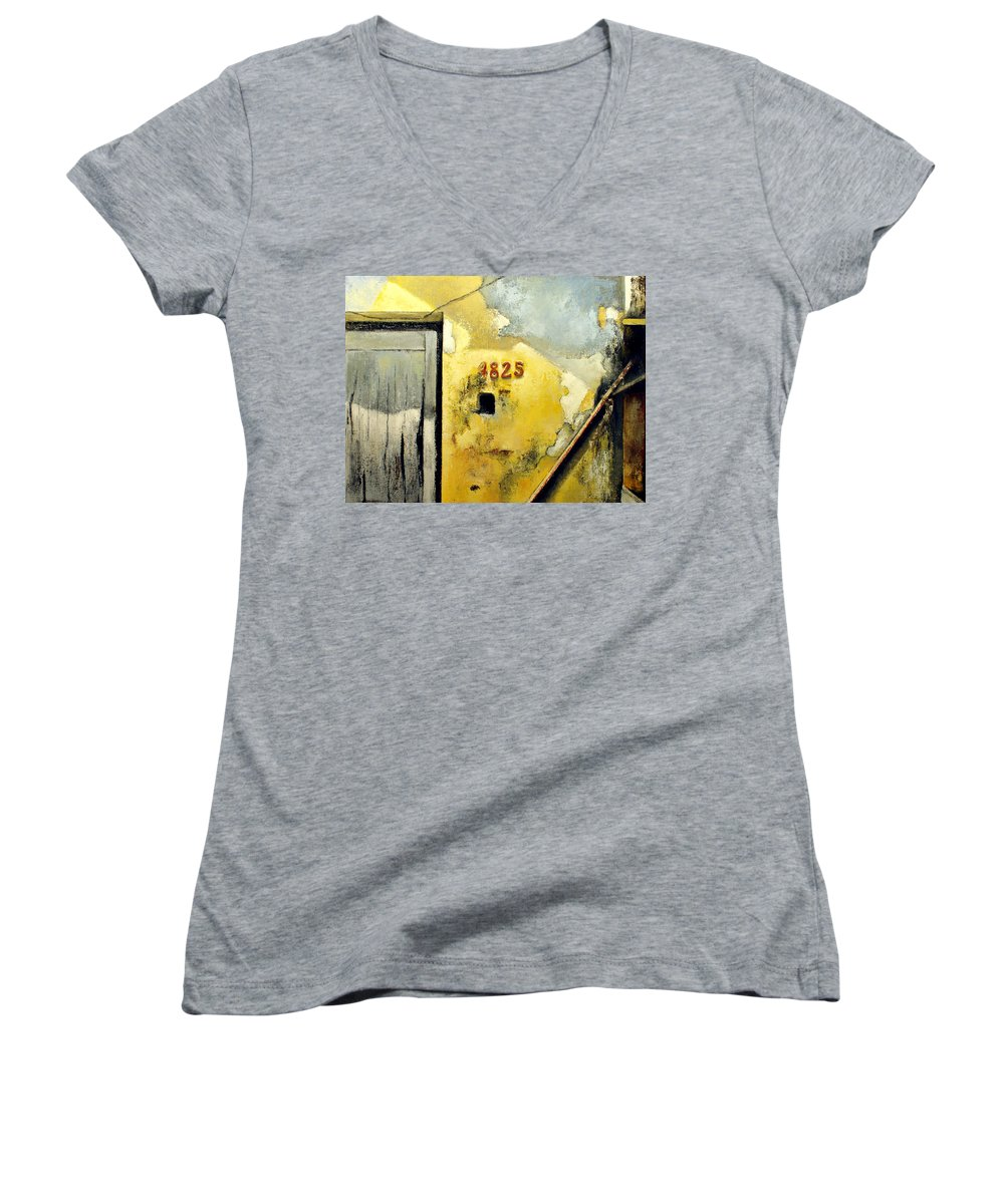 Havana Women's V-Neck (Athletic Fit) featuring the painting Solana by Tomas Castano
