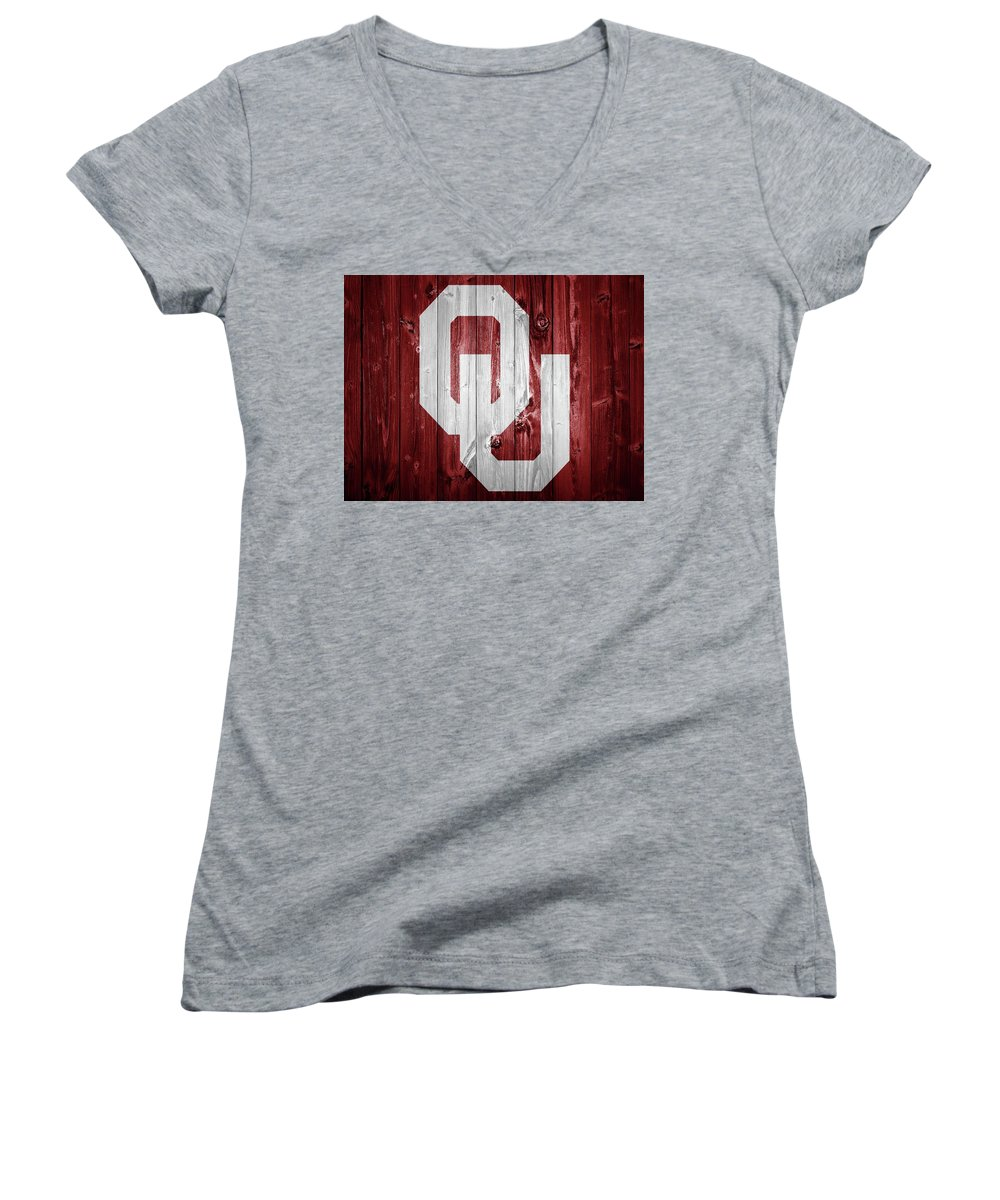 Oklahoma University Junior V-Neck T-Shirts