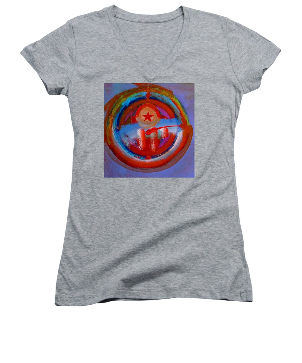 Love Women's V-Neck T-Shirt featuring the painting Star Of The Sea by Charles Stuart