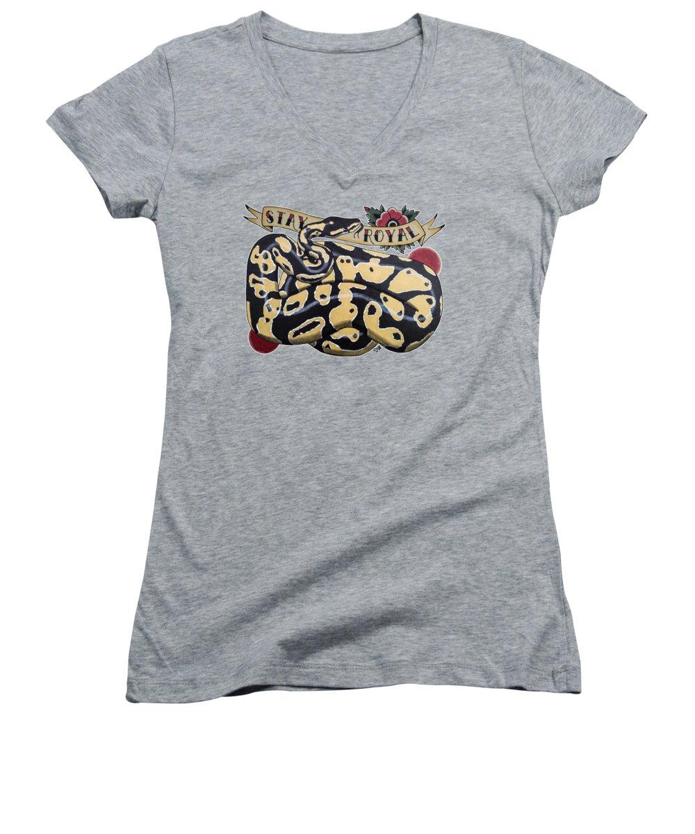Burmese Python Women's V-Neck T-Shirts