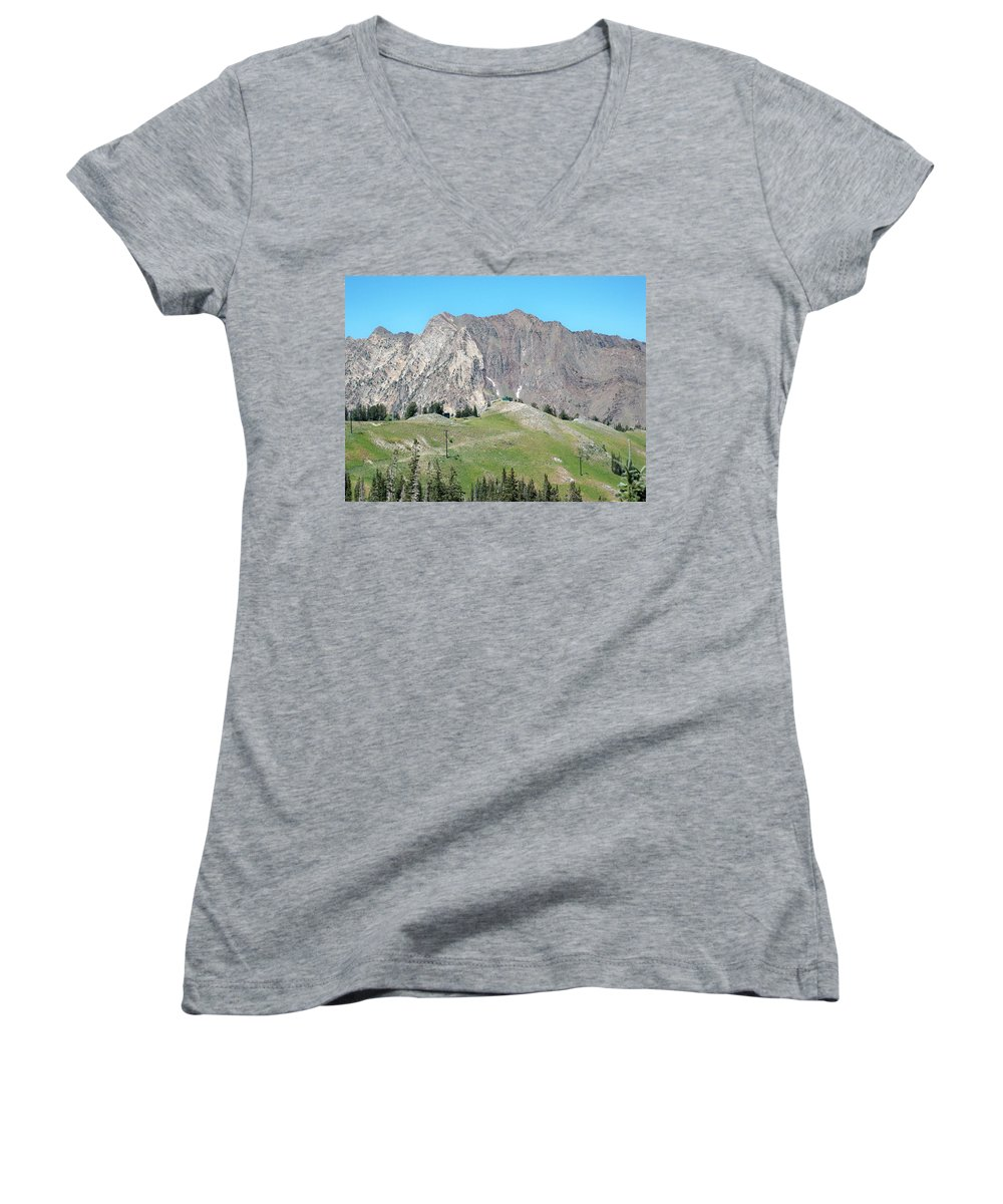 Landscape Women's V-Neck (Athletic Fit) featuring the photograph Superior by Michael Cuozzo