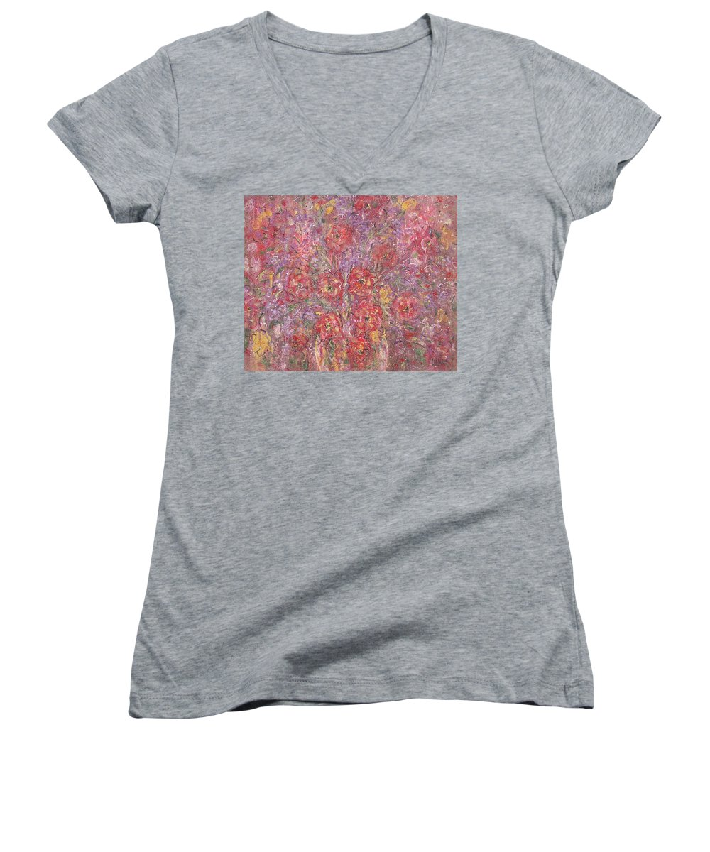 Still Life Women's V-Neck T-Shirt featuring the painting Sweet Memories by Natalie Holland