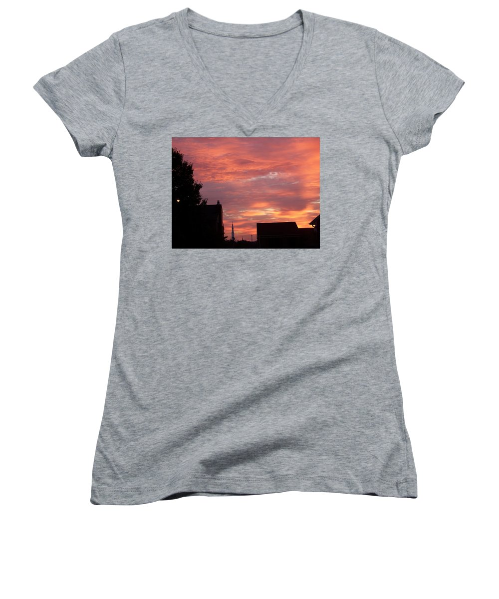 Saturn Moon Rocket Women's V-Neck (Athletic Fit) featuring the photograph Take Me To The Moon by Larry Wright
