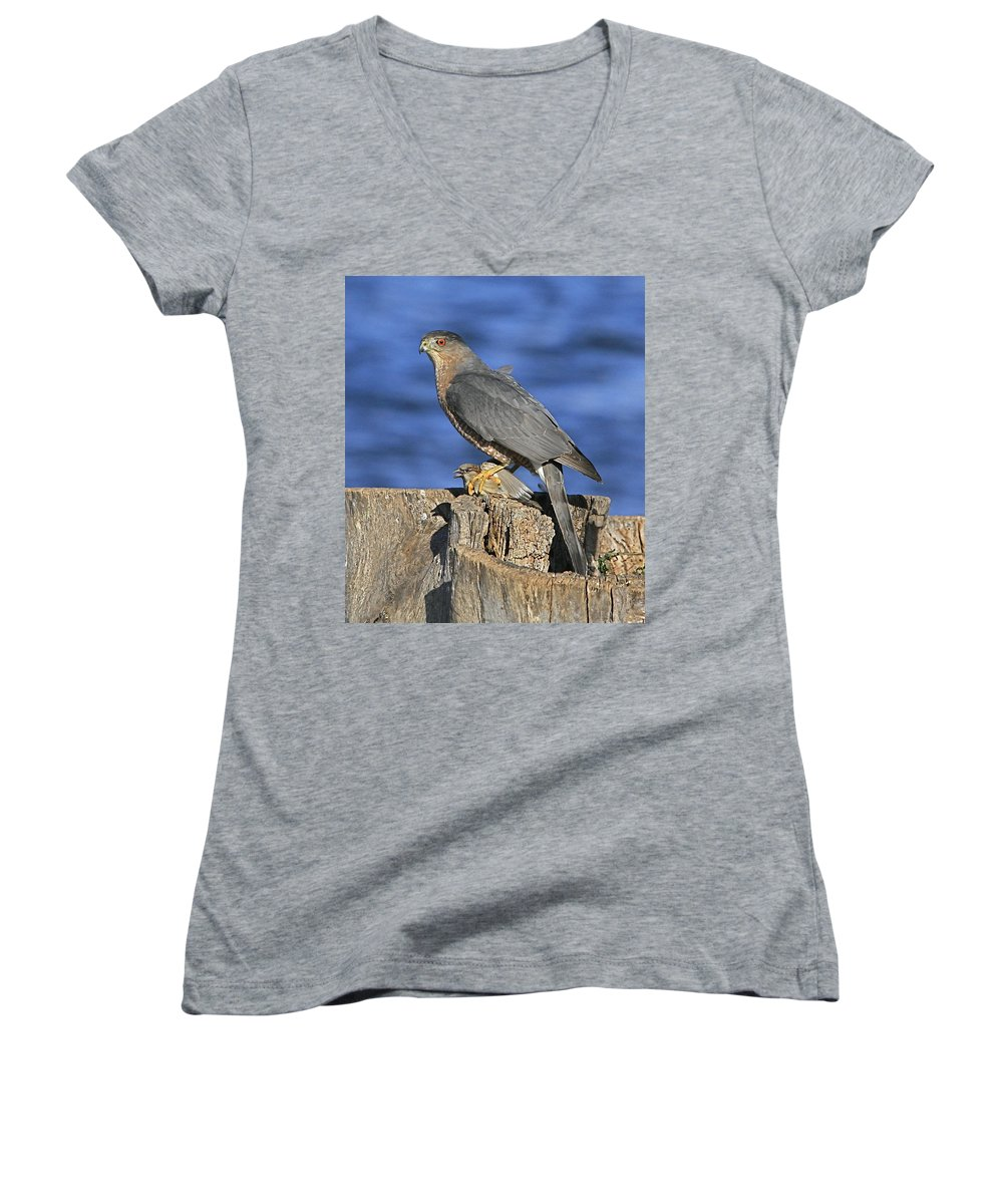 Cooper Women's V-Neck (Athletic Fit) featuring the photograph The Catch by Robert Pearson