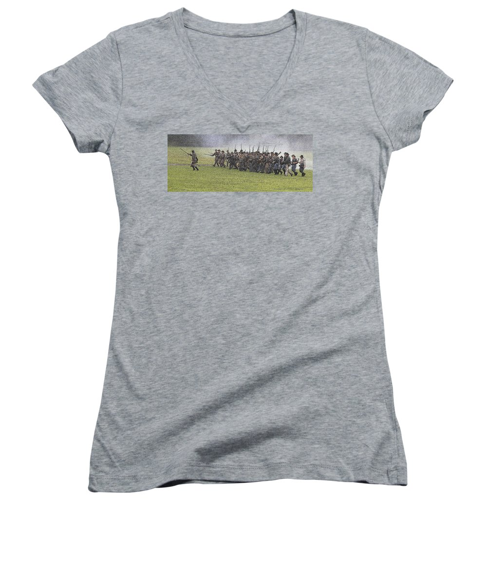 Civil War Women's V-Neck (Athletic Fit) featuring the photograph The Conflict by Robert Pearson