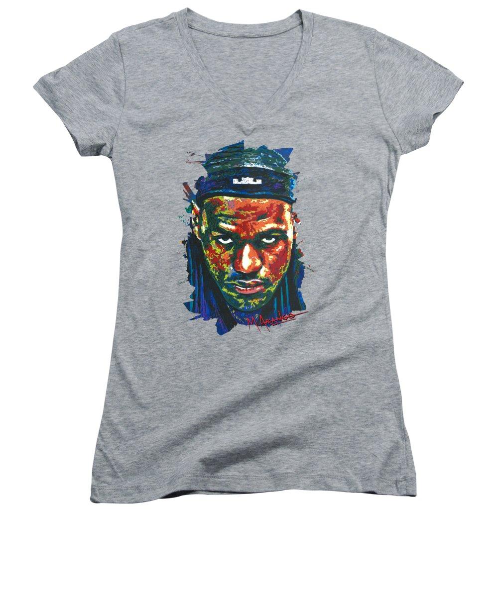Lebron James Women's V-Neck T-Shirts