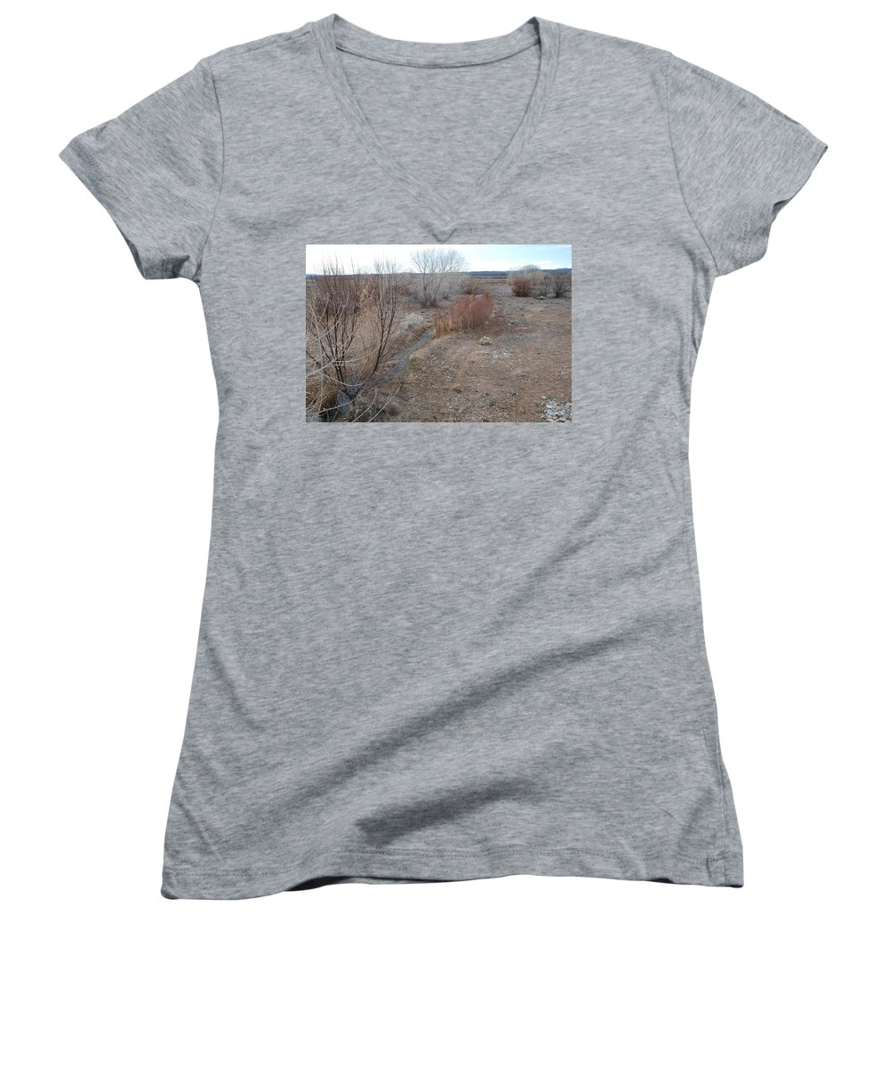River Women's V-Neck T-Shirt featuring the photograph The Mighty Santa Fe River by Rob Hans
