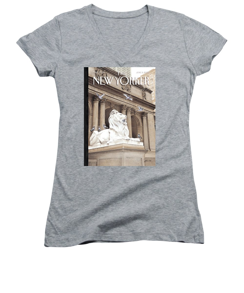 New Women's V-Neck featuring the photograph It Is A Jungle Out There by Harry Bliss