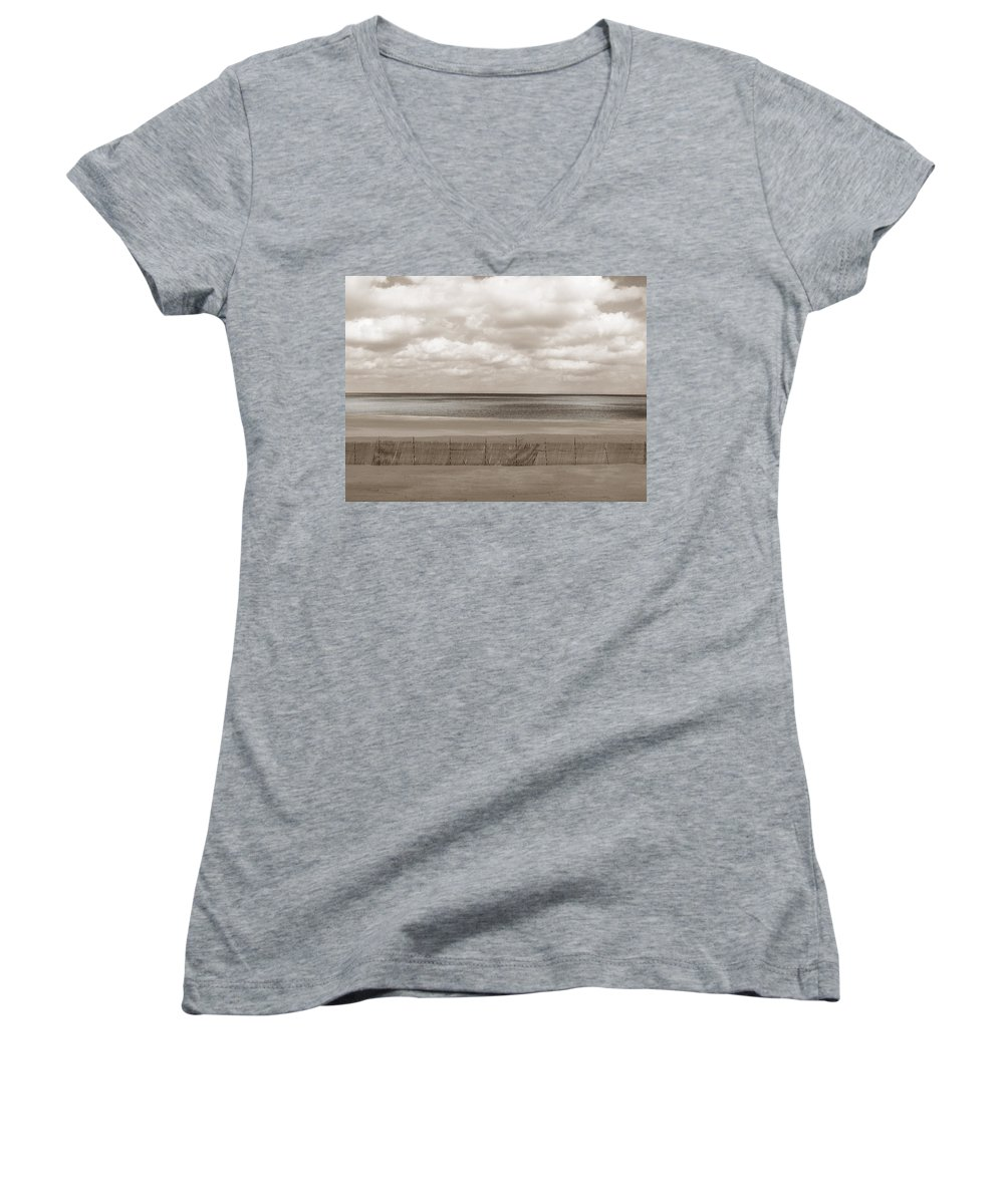 Ocean Women's V-Neck (Athletic Fit) featuring the photograph The Perfect Sky Is Torn by Dana DiPasquale