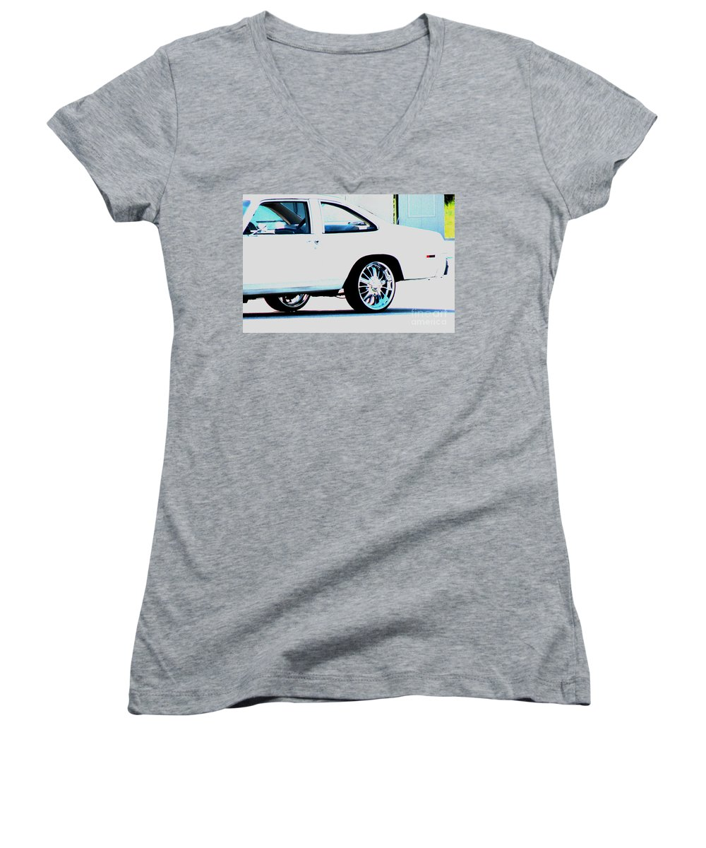 Car Women's V-Neck T-Shirt featuring the photograph The Ride by Amanda Barcon