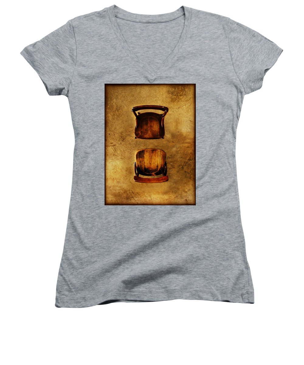 Dipasquale Women's V-Neck (Athletic Fit) featuring the photograph The Space Between You And Me by Dana DiPasquale