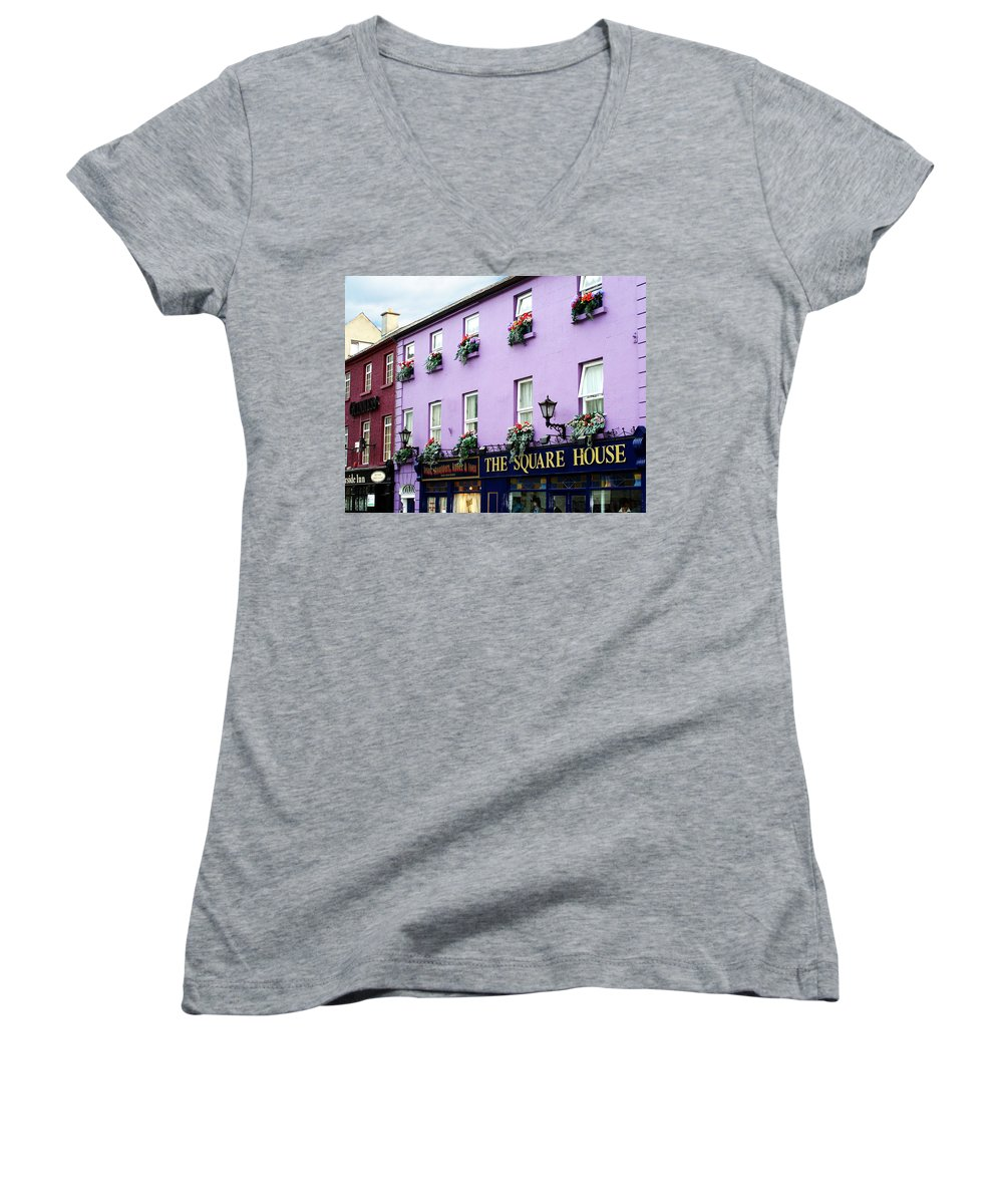 Irish Women's V-Neck (Athletic Fit) featuring the photograph The Square House Athlone Ireland by Teresa Mucha