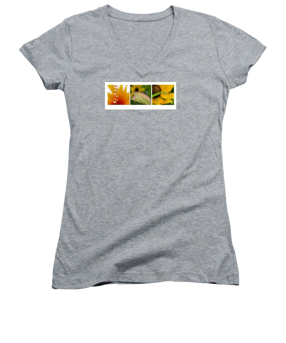 Dew Women's V-Neck (Athletic Fit) featuring the photograph Tiny Miracles by Linda Murphy