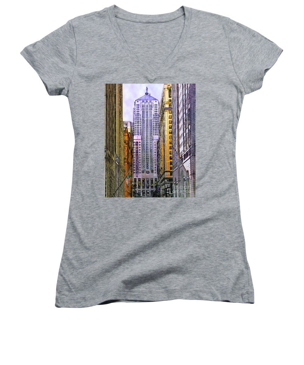 Trading Places Women's V-Neck T-Shirt featuring the digital art Trading Places by John Beck