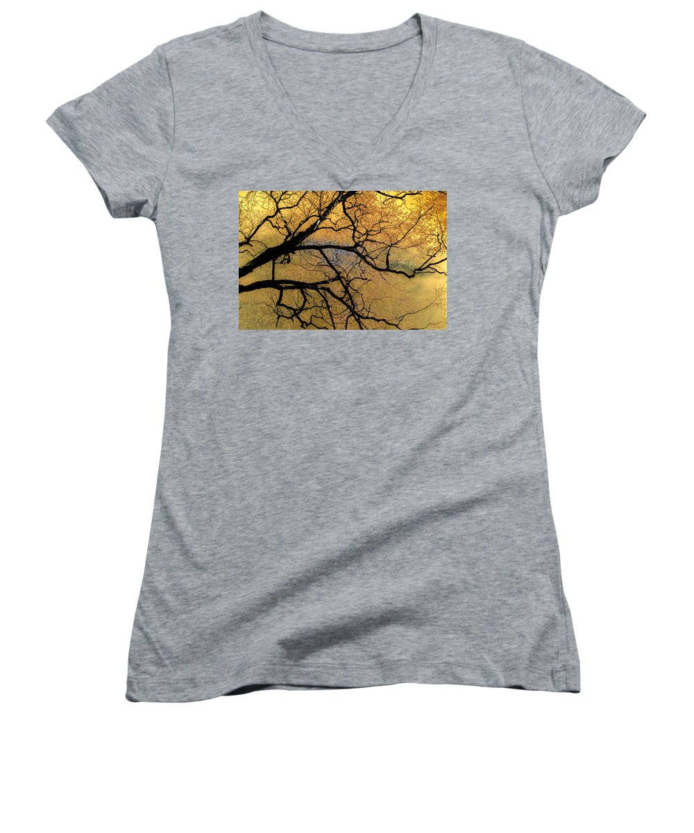 Scenic Women's V-Neck (Athletic Fit) featuring the photograph Tree Fantasy 7 by Lee Santa