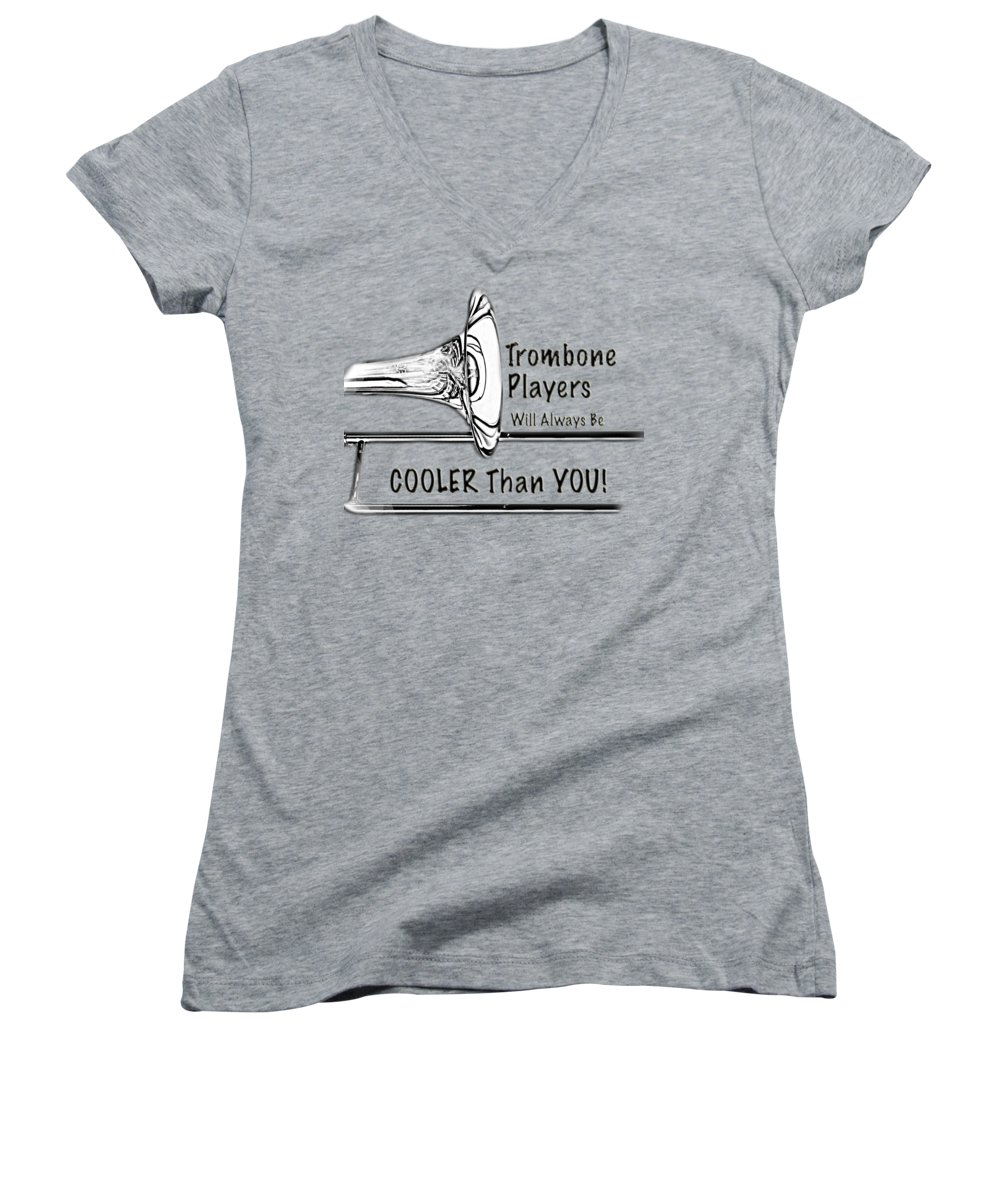 Trombone Women's V-Neck T-Shirts