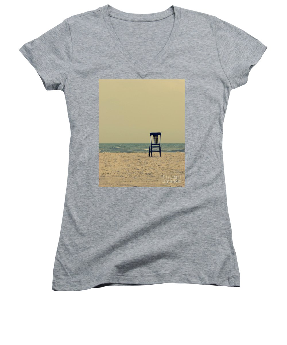 Ocean Women's V-Neck (Athletic Fit) featuring the photograph Until Tomorrow And Tomorrow And Tomorrow by Dana DiPasquale