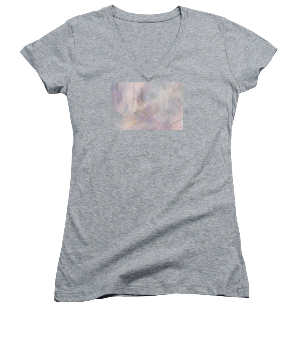 Digital Art Women's V-Neck T-Shirt featuring the digital art Vanishing Act by Linda Murphy