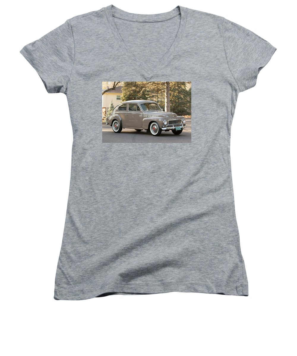 Volvo 544 Sport Women's V-Neck featuring the photograph Volvo 544 Sport by Mariel Mcmeeking