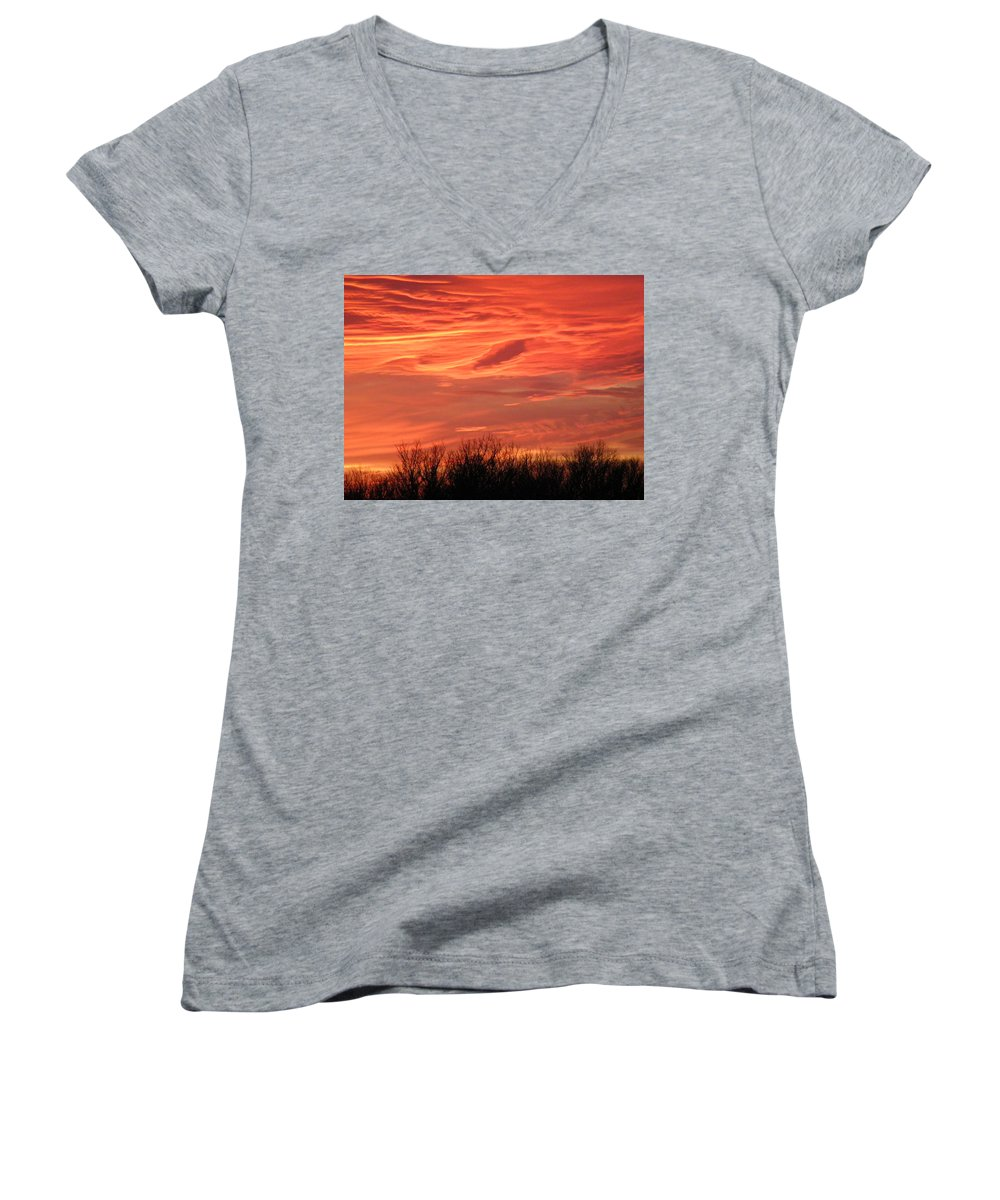 Sunset Women's V-Neck (Athletic Fit) featuring the photograph Who Needs Jupiter by Gale Cochran-Smith