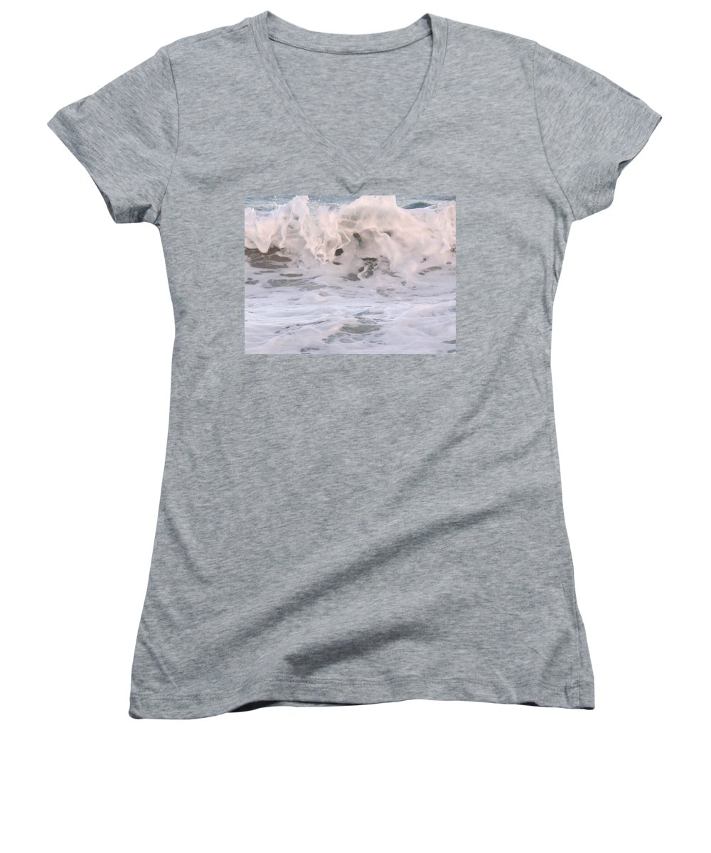Surf Women's V-Neck (Athletic Fit) featuring the photograph Wild Surf by Ian MacDonald