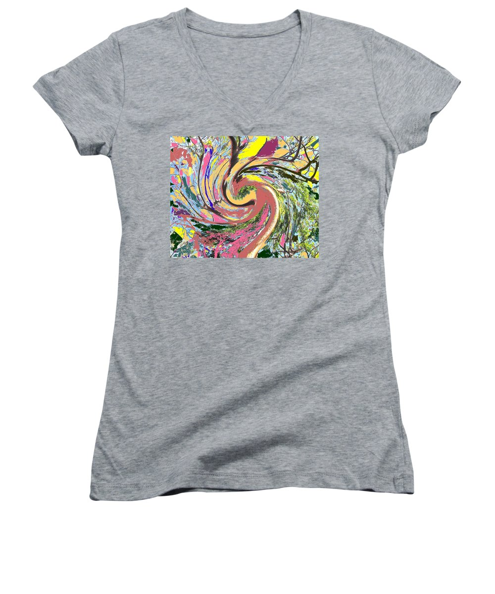 Blue Women's V-Neck (Athletic Fit) featuring the photograph Wild Tree by Ian MacDonald