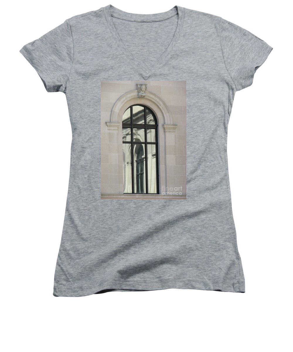 Windows Women's V-Neck (Athletic Fit) featuring the photograph Window by Amanda Barcon