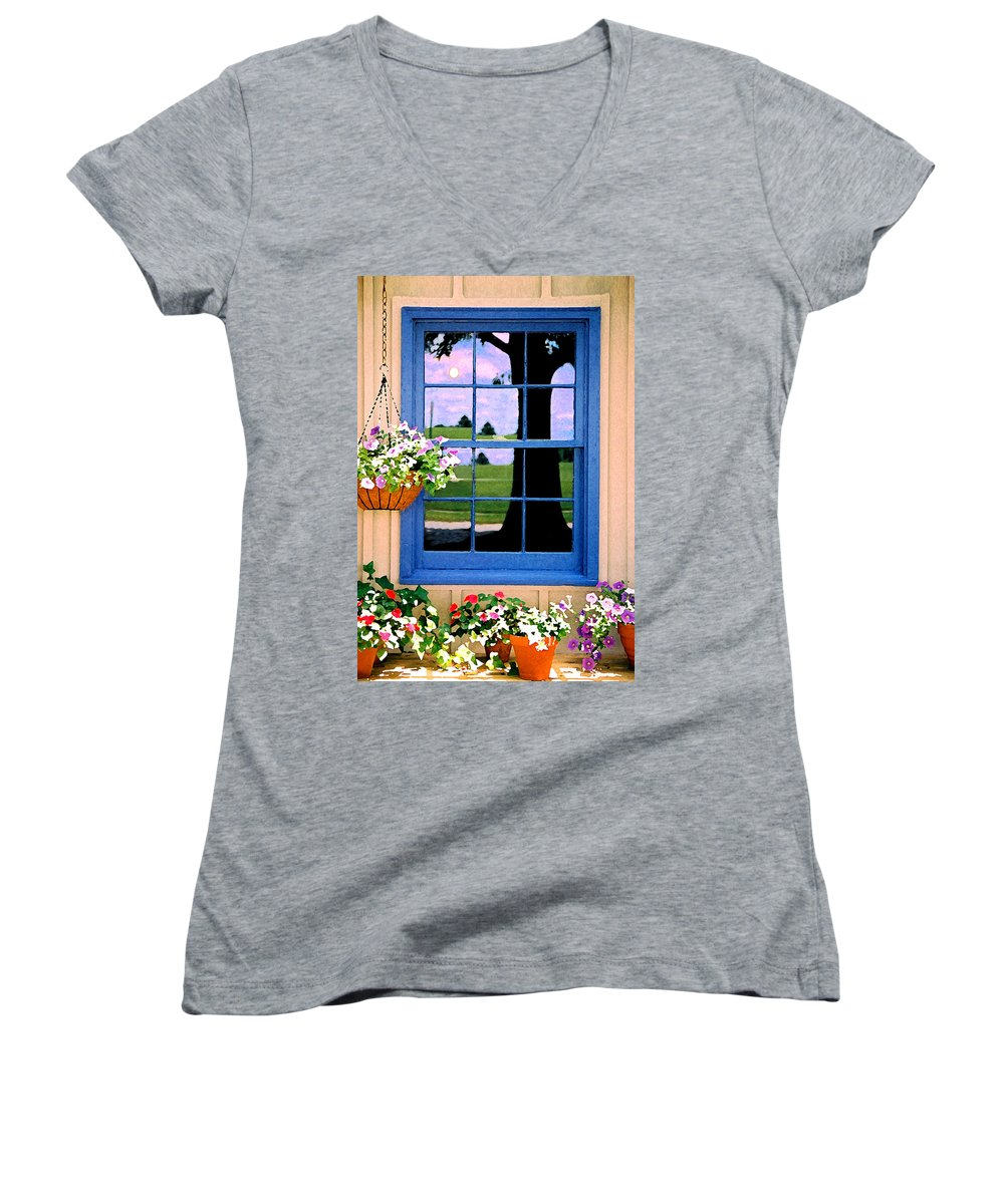 Still Life Women's V-Neck (Athletic Fit) featuring the photograph Window by Steve Karol