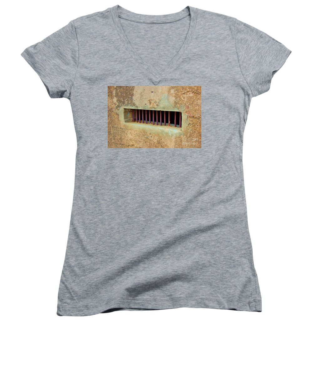 Jail Women's V-Neck (Athletic Fit) featuring the photograph Window To The World by Debbi Granruth
