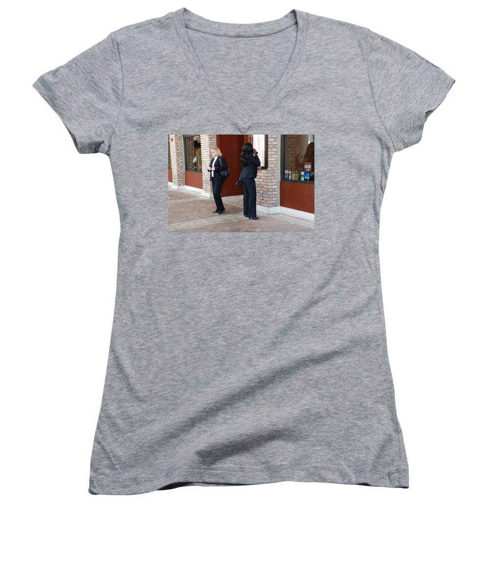 Girls Women's V-Neck (Athletic Fit) featuring the photograph Ying Yang by Rob Hans
