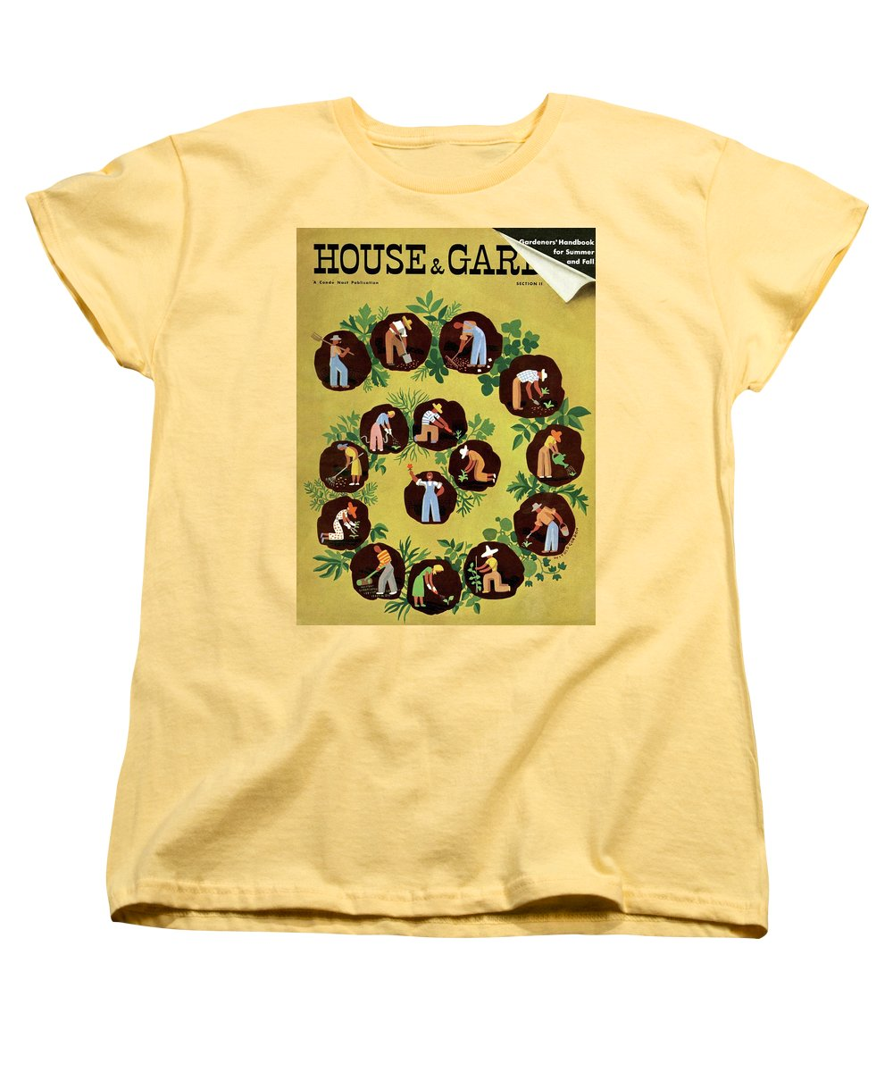 House And Garden Women's T-Shirt (Standard Fit) featuring the photograph Gardeners And Farmers by Witold Gordon