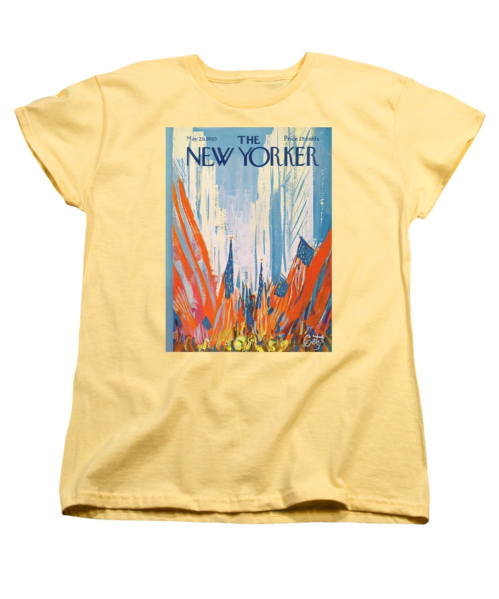 Urban Women's T-Shirt (Standard Fit) featuring the painting New Yorker May 29th, 1965 by Arthur Getz