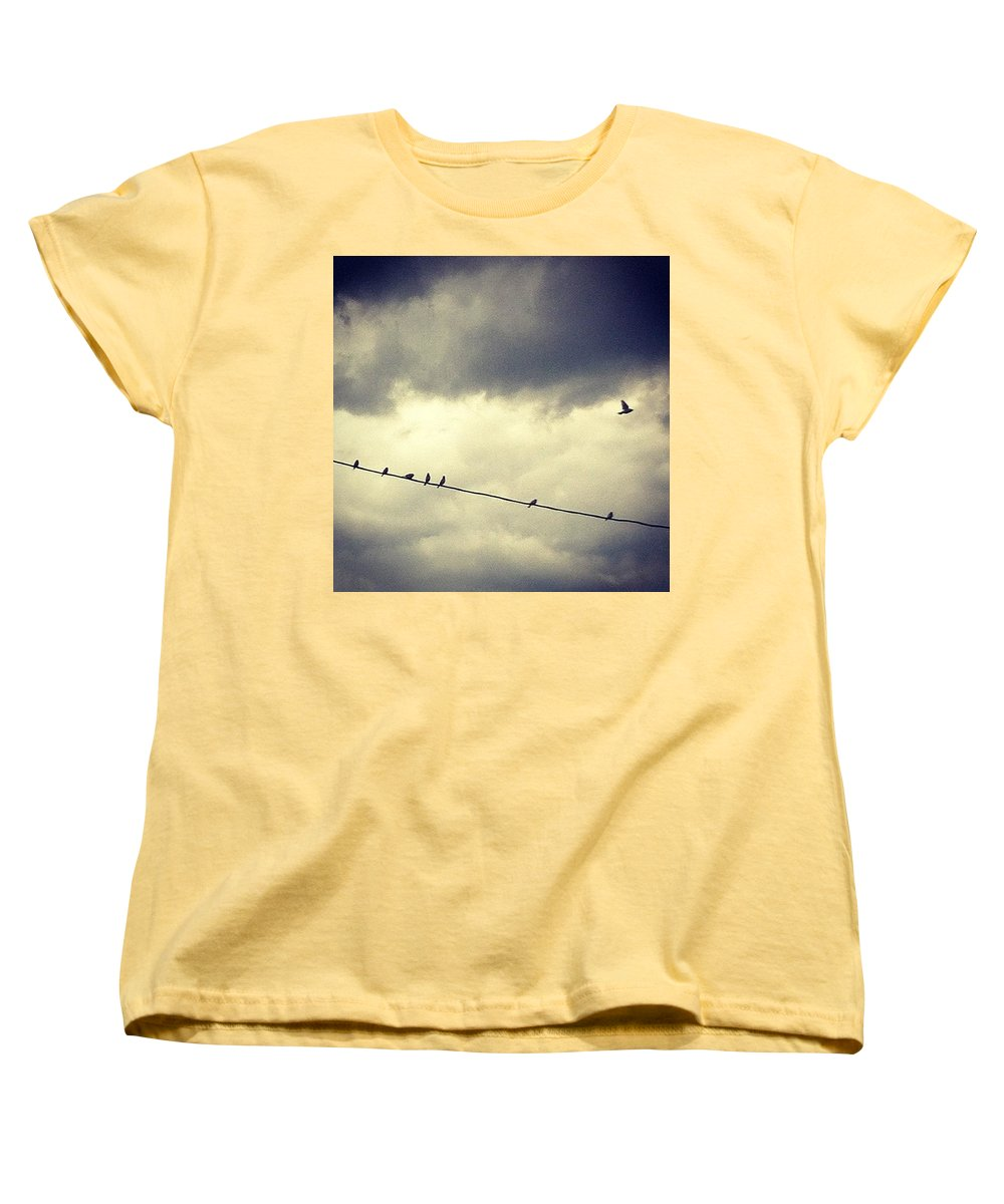 Women's T-Shirt (Standard Cut) featuring the photograph Da Birds by Katie Cupcakes