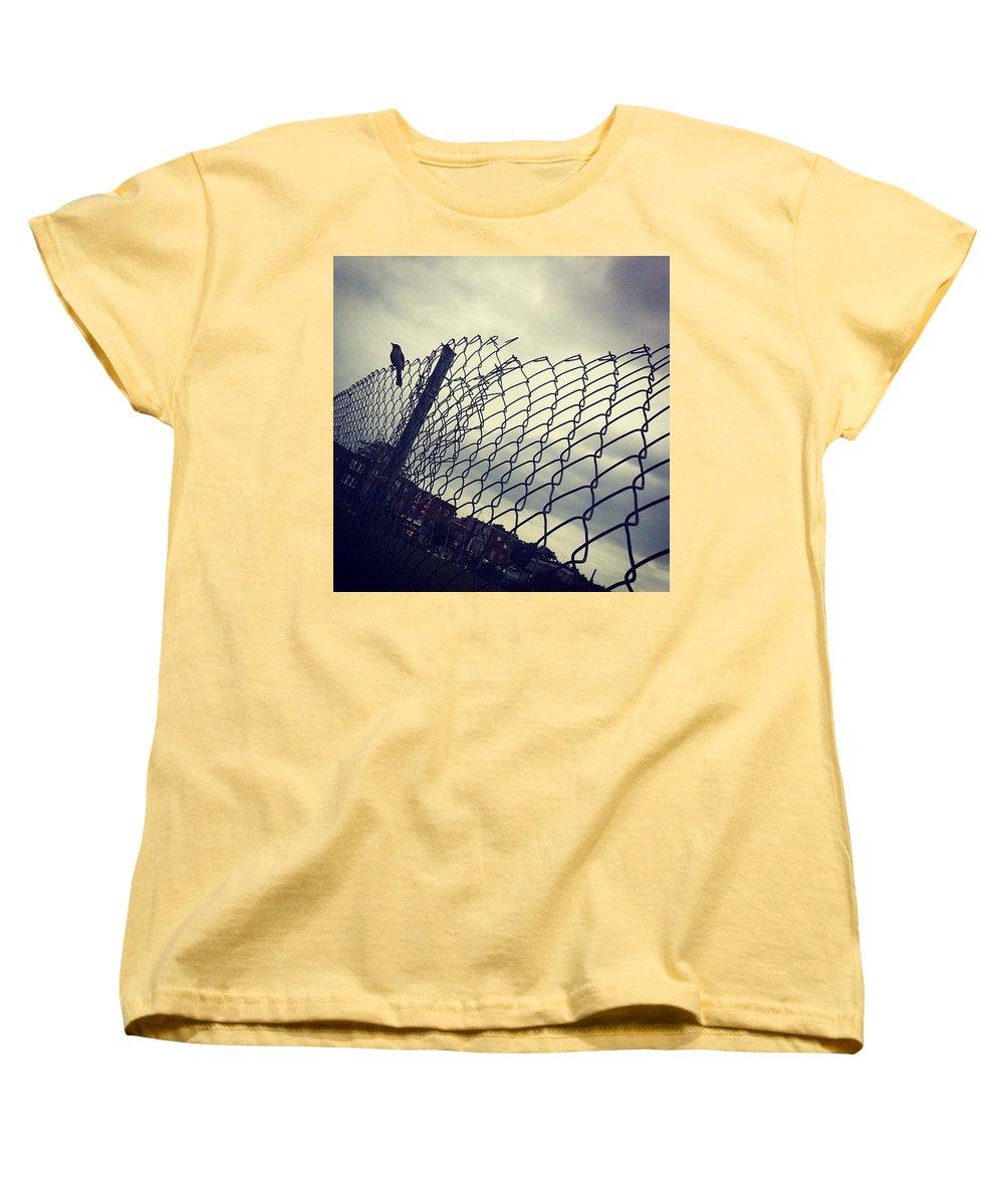 Mockingbird Women's T-Shirt (Standard Cut) featuring the photograph Mock. Yeah! Ing. Yeah! Bird. Yeah! by Katie Cupcakes
