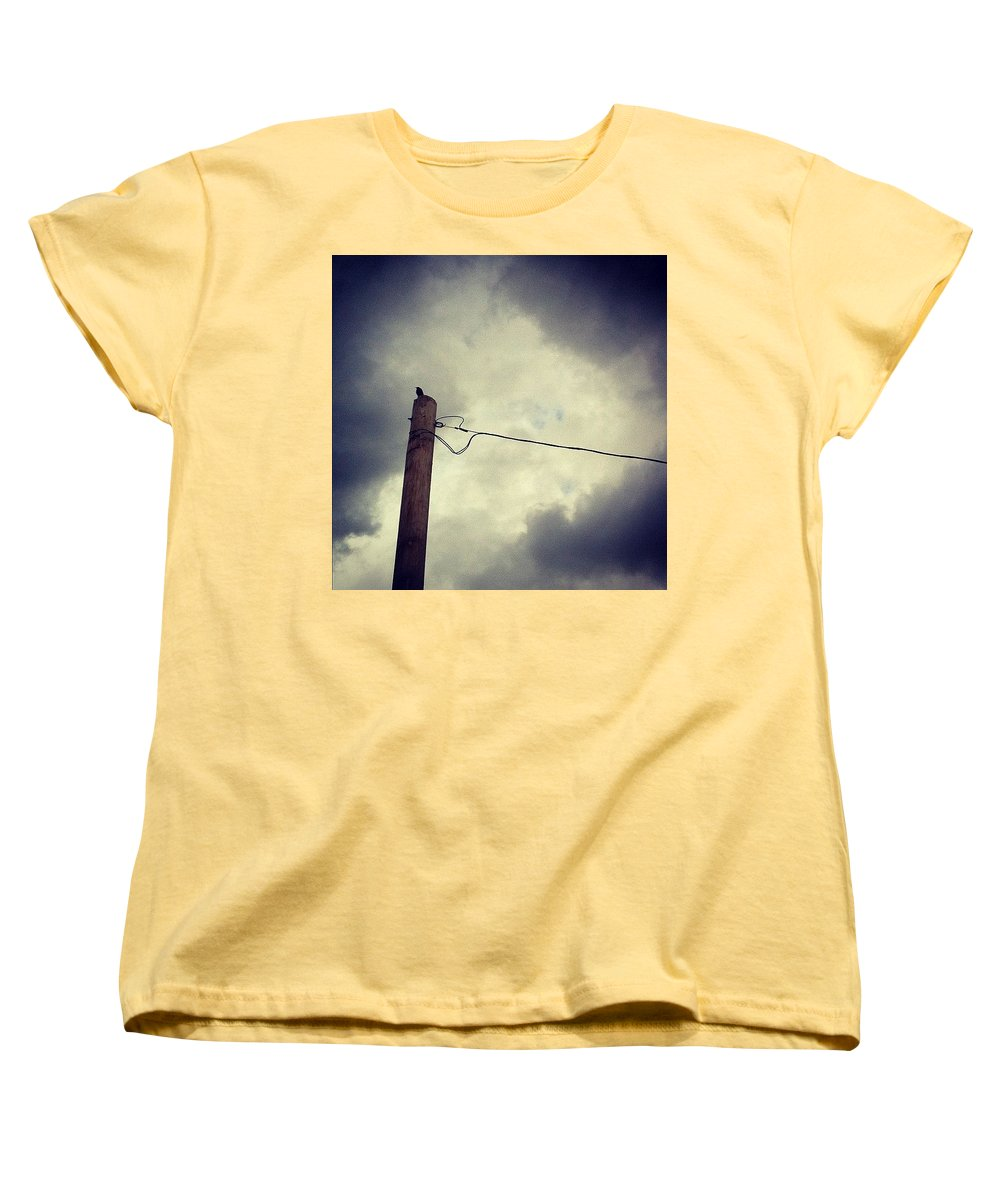 Storm Women's T-Shirt (Standard Cut) featuring the photograph #storm Watcher by Katie Cupcakes