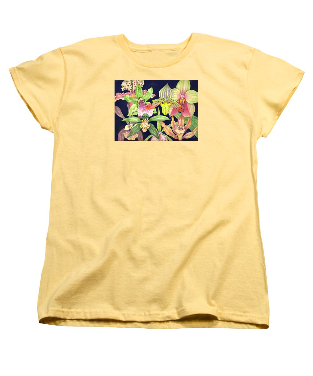 Orchids Women's T-Shirt (Standard Cut) featuring the painting Orchids by Lucy Arnold