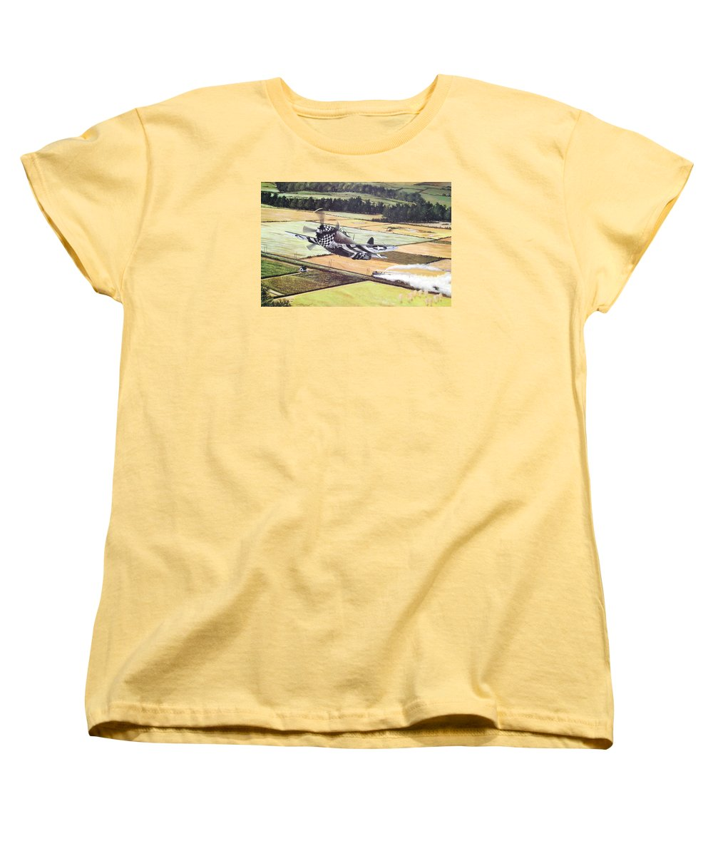 Military Women's T-Shirt (Standard Cut) featuring the painting Target Of Opportunity by Marc Stewart