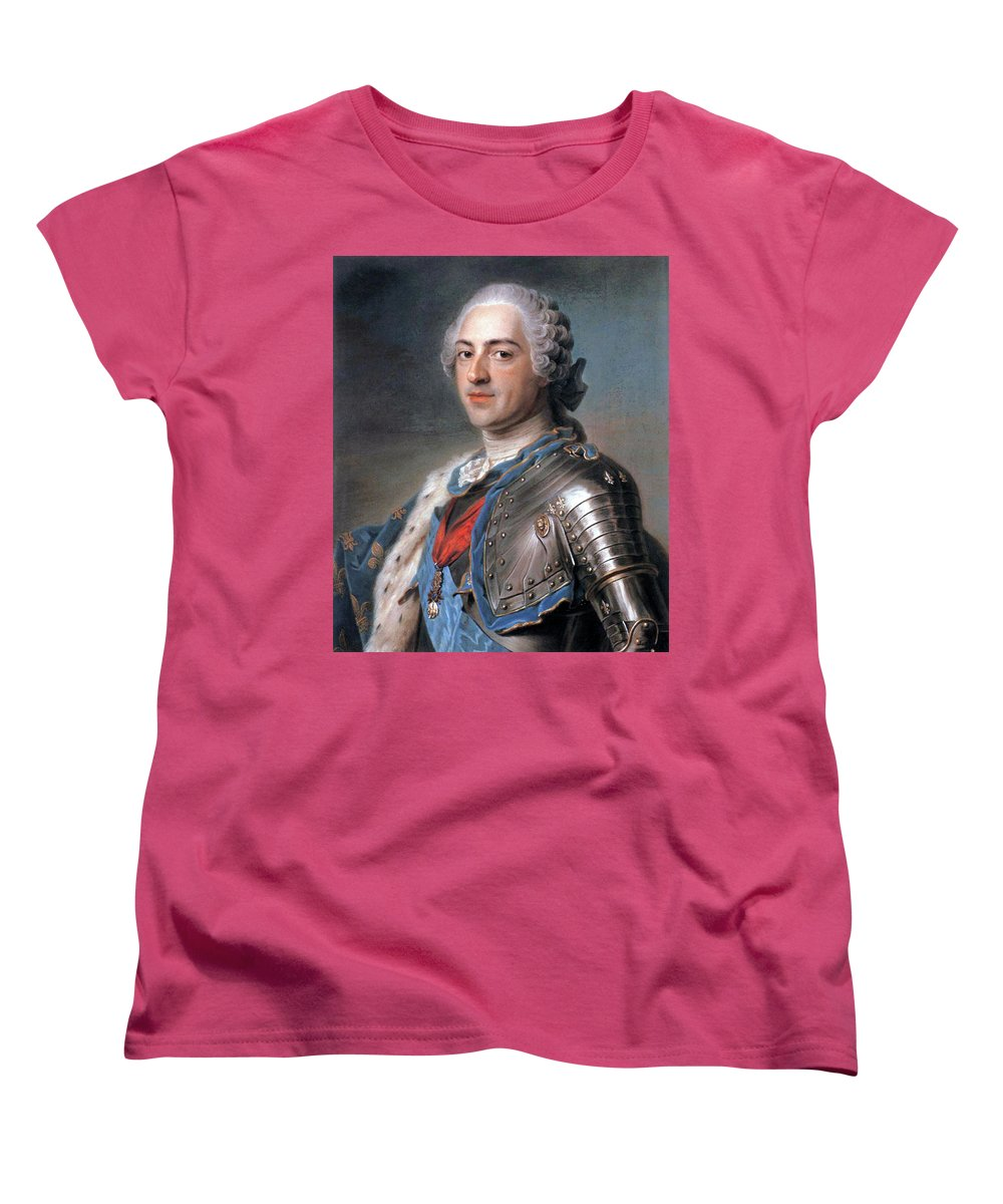 Portrait Of Louis Xv Of France Womens T Shirt For Sale By Maurice
