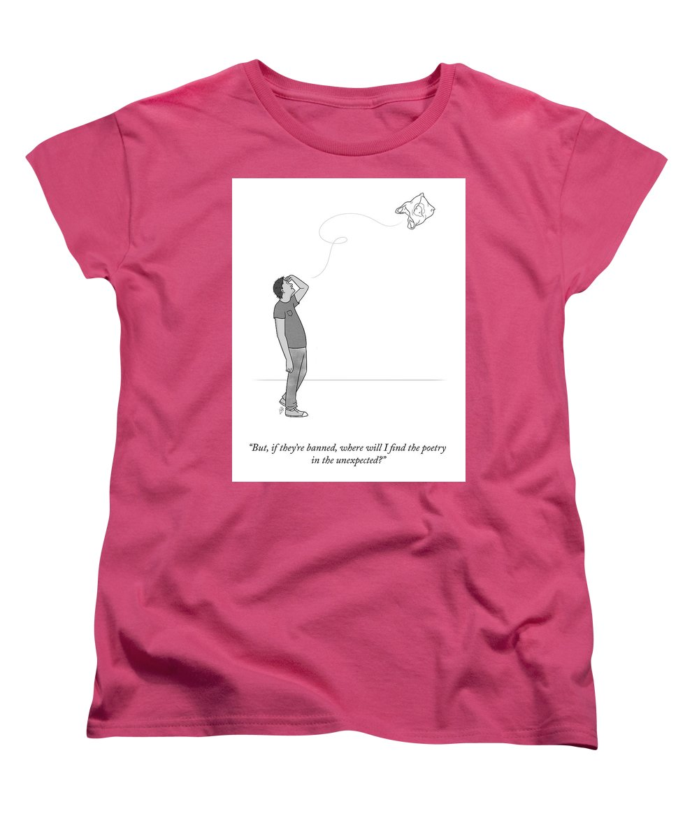 But Women's T-Shirt (Standard Fit) featuring the drawing Poetry In The Unexpected by Lila Ash