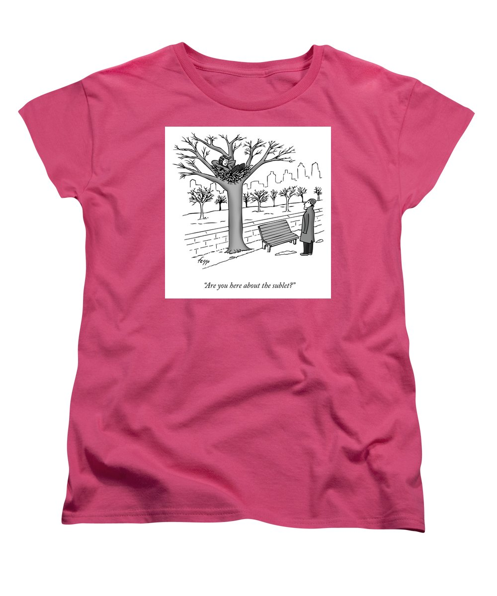 Cctk Women's T-Shirt (Standard Fit) featuring the drawing The Sublet by Felipe Galindo