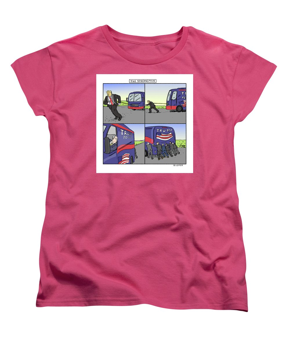 Captionless Women's T-Shirt (Standard Fit) featuring the drawing The Strongman by Brendan Loper