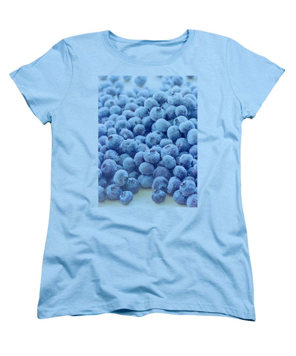 Berries Women's T-Shirt (Standard Fit) featuring the photograph Blueberries by Romulo Yanes