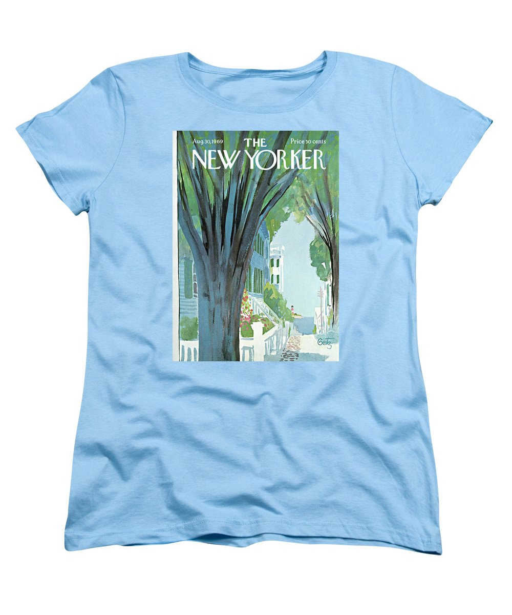 Arthur Getz Agt Women's T-Shirt (Standard Fit) featuring the painting New Yorker August 30th, 1969 by Arthur Getz