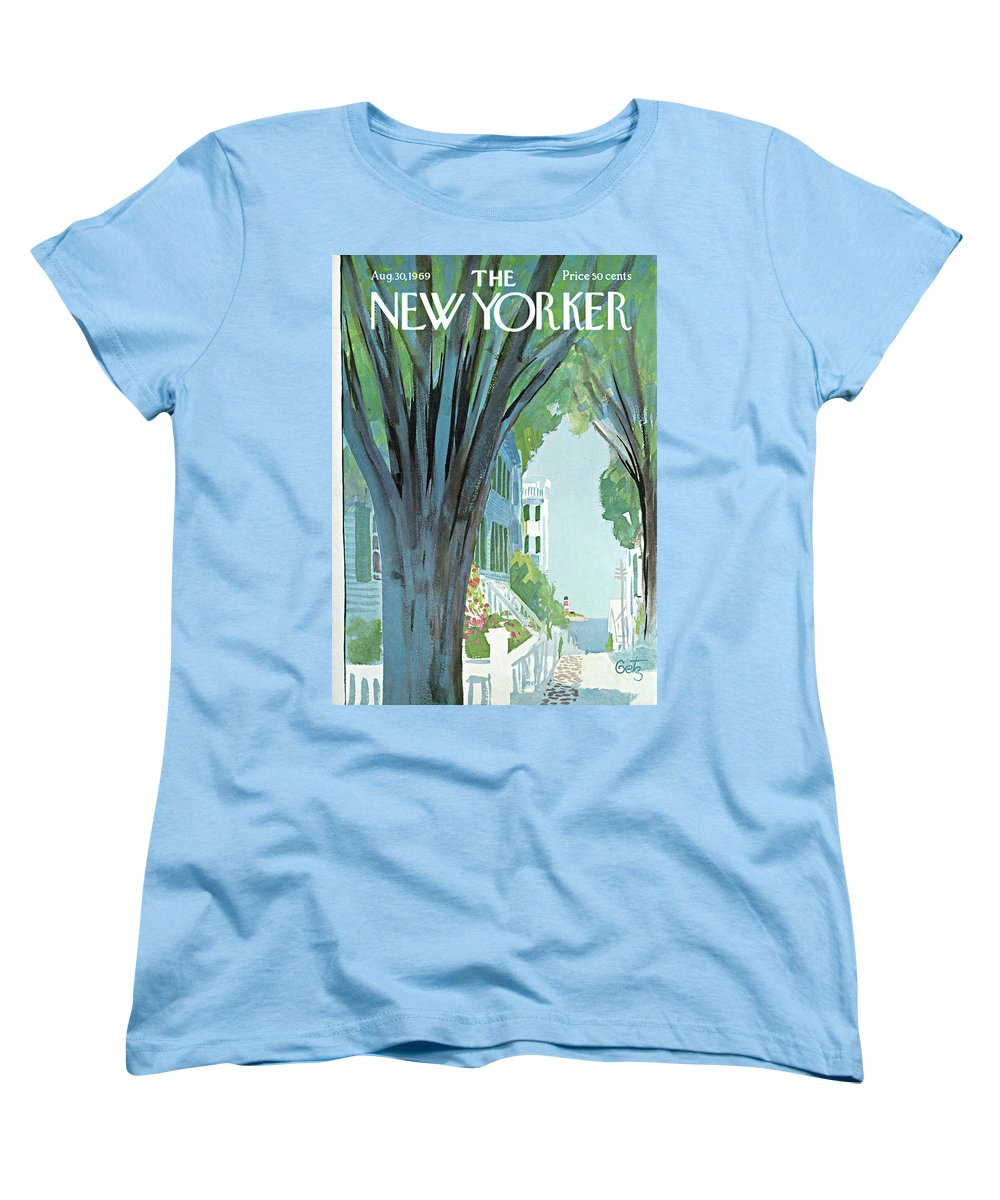 Arthur Getz Agt Women's T-Shirt (Standard Fit) featuring the painting New Yorker August 30th, 1969 by Arthur Getz