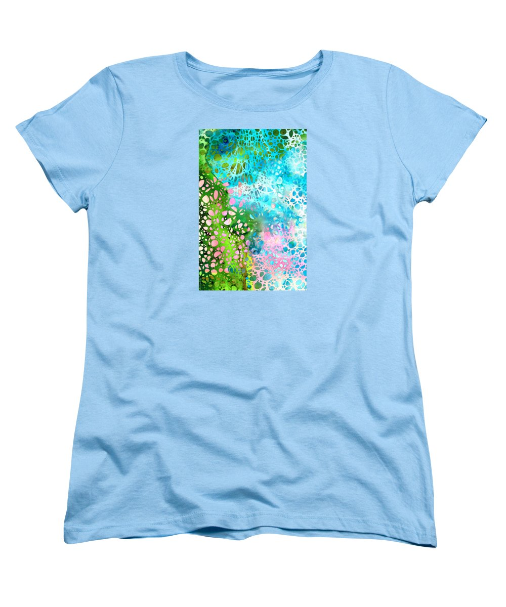 Abstract Landscape Paintings Women's T-Shirts