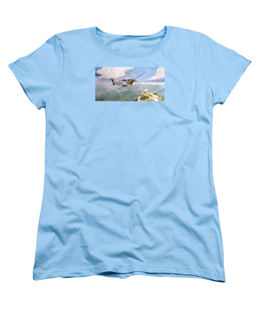 Military Women's T-Shirt (Standard Cut) featuring the painting Double Trouble Over The Eagle by Marc Stewart